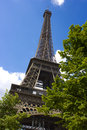 The Eiffel Tower from the base Royalty Free Stock Image