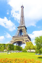 Eiffel Tower and blue sky Royalty Free Stock Photo