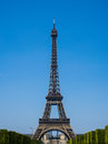 Eiffel tower on bright summer day Royalty Free Stock Photography