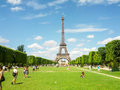 Eiffel Tower in the capital city of France - Paris Royalty Free Stock Images
