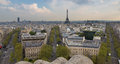Eiffel Tower Center and Paris Skyline, Landscape Royalty Free Stock Photo