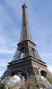 Eiffel tower cold sunny winter day paris france Royalty Free Stock Images