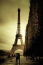 Eiffel tower the famous in paris france Royalty Free Stock Photography
