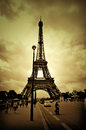 Eiffel tower the famous in paris france Royalty Free Stock Photo