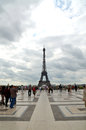 Eiffel tower the famous from the trocadero in paris france Royalty Free Stock Photography