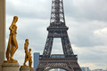 Eiffel tower the famous from the trocadero in paris france Royalty Free Stock Images