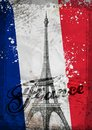 Eiffel Tower. Hand drawn vector illustration Royalty Free Stock Photo