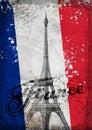 Eiffel Tower. Hand drawn vector illustration Royalty Free Stock Photo