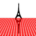 Eiffel Tower with hearts Royalty Free Stock Photos