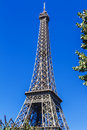 Eiffel Tower (La Tour Eiffel) in Paris, France. Stock Photo