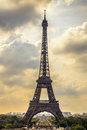 Eiffel tower landmark view from trocadero paris france cityscape europe Stock Photo