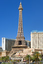 Eiffel tower in las vegas in a summer day may on the strip on may this is the biggest copy of the and its height is meters Royalty Free Stock Images