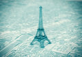 Eiffel tower on the map of paris extreme closeup Royalty Free Stock Image