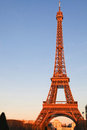 Eiffel Tower morning light Paris , France Royalty Free Stock Images
