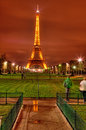 Eiffel Tower by Night Stock Photo