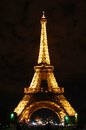 Eiffel tower at night the famous french the Royalty Free Stock Photo