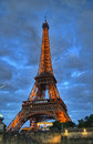 Eiffel Tower in night light, Paris, France Royalty Free Stock Photo