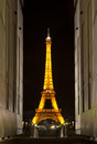 Eiffel tower at night. Paris, France. Royalty Free Stock Photos