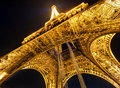 The eiffel tower at night in paris lighting of on september is one of major tourist attractions of france Royalty Free Stock Image