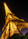 The eiffel tower at night in paris lighting of on september is one of major tourist attractions of france Stock Photo