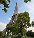 Eiffel tower - old famous building of Paris city Royalty Free Stock Image