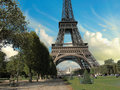 Eiffel Tower from Parc du Champs de Mars Royalty Free Stock Images