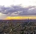 Eiffel tower in paris at atmospheric dusk la tour Stock Photos