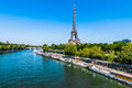 The eiffel tower paris city france in of in Stock Photos