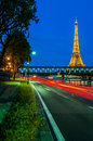 The eiffel tower paris city france may at night at of in on may th Royalty Free Stock Photos