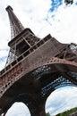 The eiffel tower paris in famous landmark Stock Photos