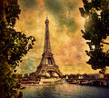 Eiffel Tower in Paris, Fance in retro style. Stock Images