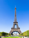 The eiffel tower in paris france Stock Photos