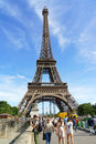 Eiffel tower in paris france august the tour against a blue summer sky france it was built between and for the world Royalty Free Stock Photos