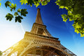 Eiffel tower paris france and the blue sky Royalty Free Stock Photos