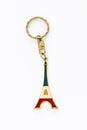 Eiffel Tower Paris France key chain souvenir Royalty Free Stock Photo