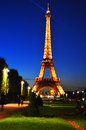 The eiffel tower in paris france by night Stock Photography