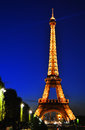 The eiffel tower in paris france in the night Stock Photos