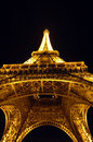 Eiffel Tower Paris France at night Stock Photo