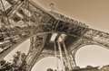 The eiffel tower paris france october tour on october in paris france it was built between and for world s fair expo Royalty Free Stock Images