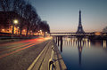 Eiffel tower in paris france with the reflection the seine river Stock Images