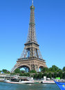 Eiffel tower in paris france seine tour water level image of Royalty Free Stock Photo