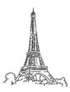 Eiffel tower in paris france sketch vector illustration Stock Image