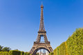 The eiffel tower in paris france view of famous Royalty Free Stock Photography