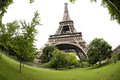 Eiffel tower paris the french la tour is an iron lattice located on the champ de mars in named after the engineer Royalty Free Stock Photo