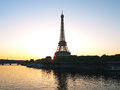 The eiffel tower in paris morning mood to full size format Stock Image