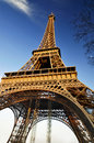 Eiffel tower in paris the is the most famous symbol of Stock Image