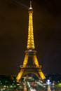 Eiffel Tower, Paris at night Royalty Free Stock Image