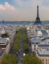 Eiffel Tower and Paris Skyline, Portrait Royalty Free Stock Photo