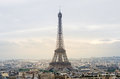Eiffel Tower with Paris skyline at sunset Royalty Free Stock Photo