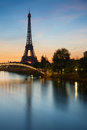 Eiffel tower paris at sunrise Stock Photo